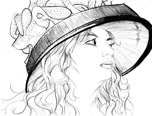 Elaine McBeth / Cashlin Snow Sketch Portrait